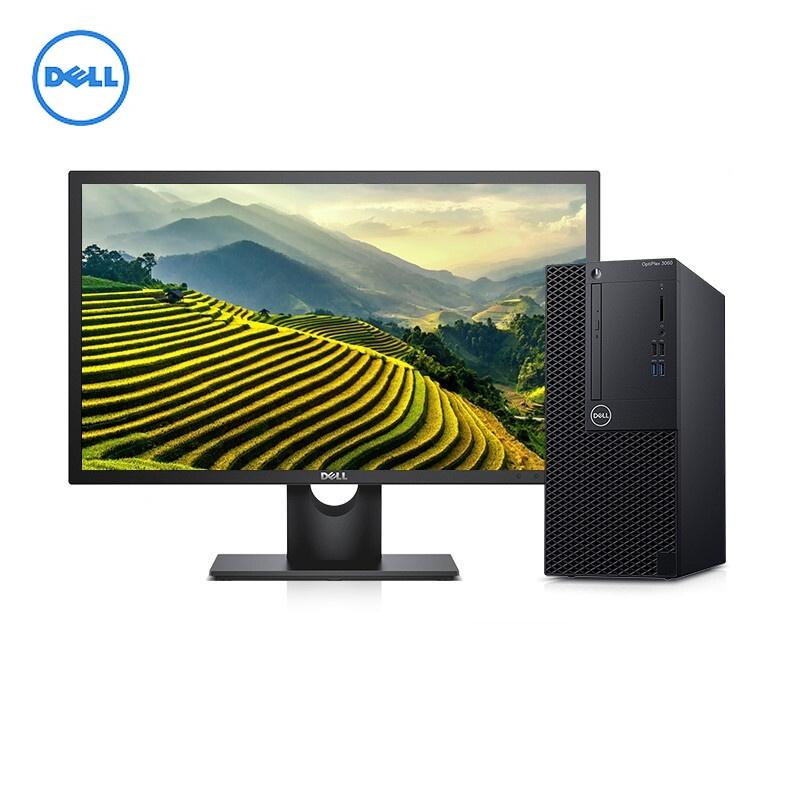 戴尔(Dell) OptiPlex 3060 Tower 台式计算机 I3-8100/4G/1TB/DVD刻录/集成显卡/19.5寸显示器
