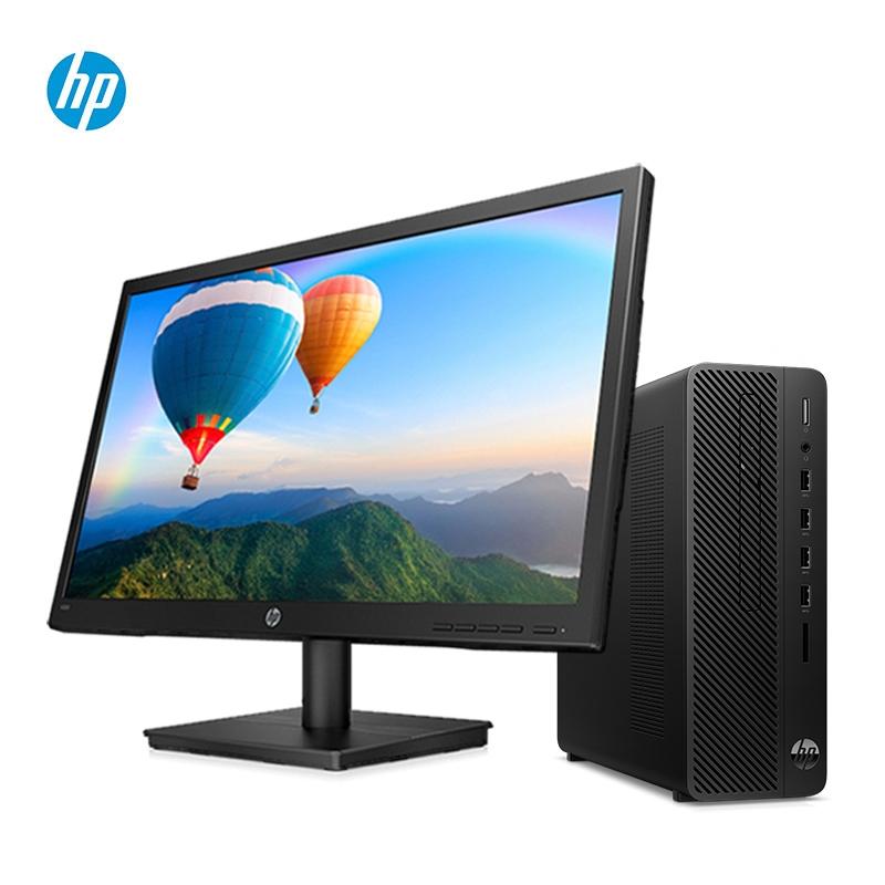 惠普(HP)280 Pro G4 SFF(i3-9100/4G/1TB/无光驱/集显) 21.5寸显示器 台式计算机