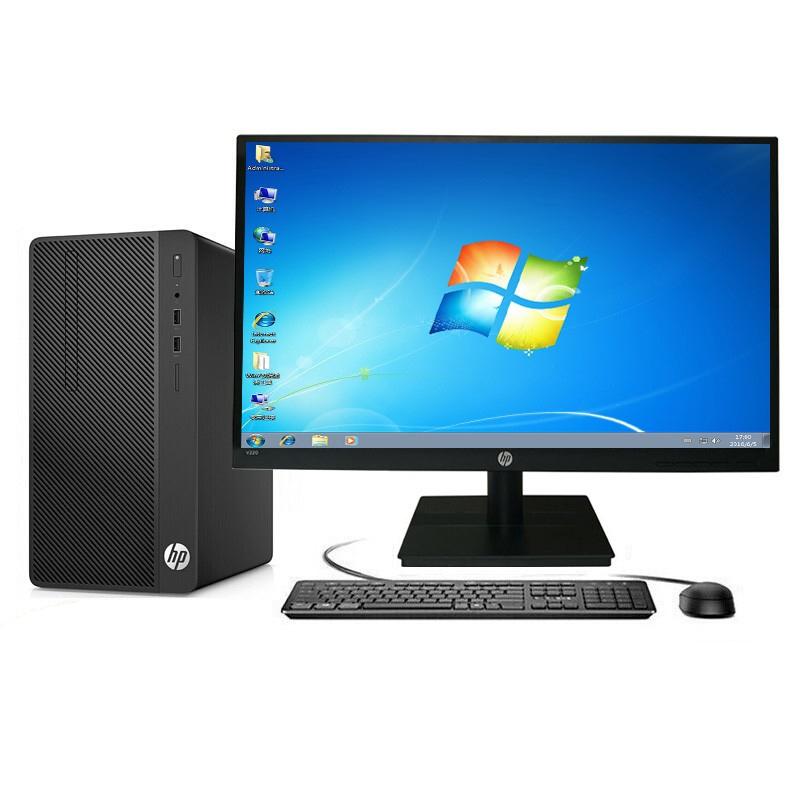 惠普/HP 285 Pro G3 MT 台式计算机 (A6-9500/4GB/500G/集显/无光驱/19.5寸显示器)